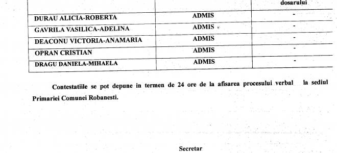 Informatii privind selectia dosarelor pentru ocuparea functiei publice de executie vacante